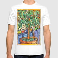 The Fig Tree White Mens Fitted Tee MEDIUM