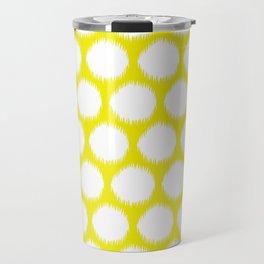Golden Yellow Asian Moods Ikat Dots Travel Mug