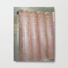 Antique books Metal Print