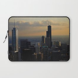 The Skyline at Dusk: From the Hancock (Chicago Architecture Collection) Laptop Sleeve