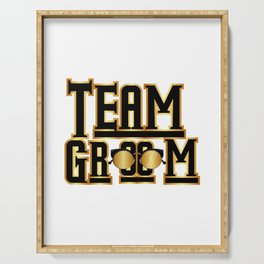 Team Groom Wedding Party Serving Tray