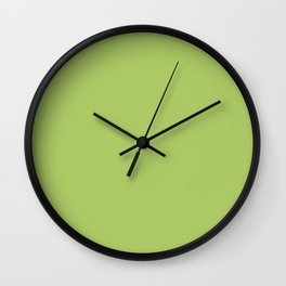 Happy Light Lime Green Solid Wall Clock