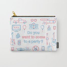 """Blink 182 """"Do you wanna go to a party?"""" Carry-All Pouch"""