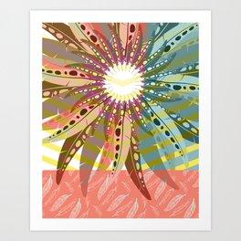 Bohemian Feather Art Print