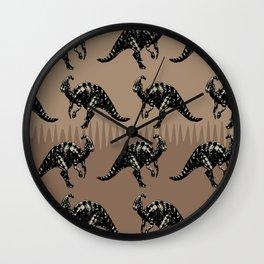 ChocoPaleo: Parasaurolophus Wall Clock