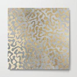 Modern elegant abstract faux gold silver pattern Metal Print