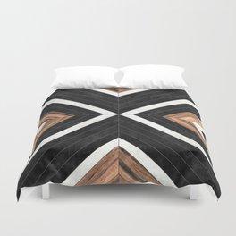 Urban Tribal Pattern No.1 - Concrete and Wood Bettbezug