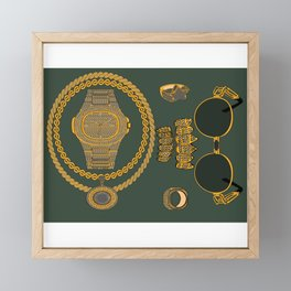 'iced out' Framed Mini Art Print