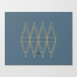 Construction Blue Gold II #kirovair #minimal #minimalism #buyart #design Canvas Print