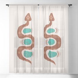 Southwestern Slither Sheer Curtain