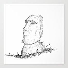 Moai statue of Easter Isle Canvas Print