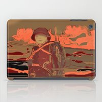 soldier iPad Cases featuring Soldier ( drawing) by Ganech joe