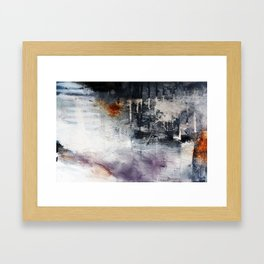 Black and white abstract painting print  Framed Art Print