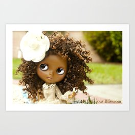 My Delicious Bliss Beautiful Brown Custom Blythe Art Dolls Art Print