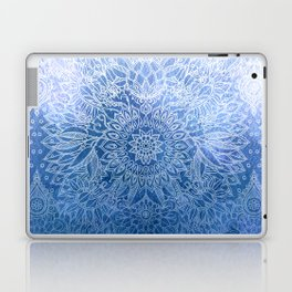 Enchanted Indigo - watercolor + doodle Laptop & iPad Skin