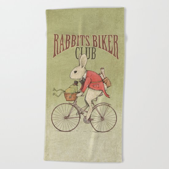 Rabbits Biker Club Beach Towel