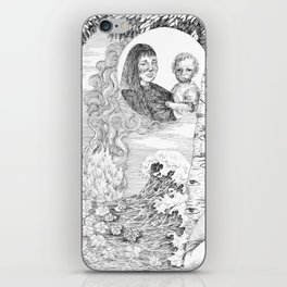 """untitled Xl """" Illustrations from a lost novel"""" iPhone Skin"""