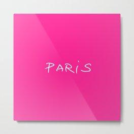 Paris 1 pink Metal Print
