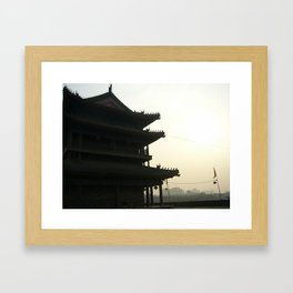 China Silhouette Framed Art Print