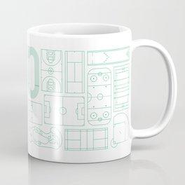 Sport Courts Pattern Art Coffee Mug