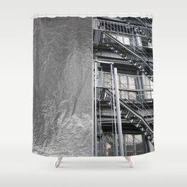 Americana - Fire Escape - Manhatten - NYC Shower Curtain