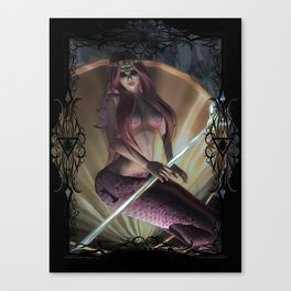Lost World- Sirena's Primal Power Canvas Print