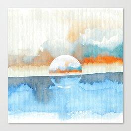 Orange Sea Drop Canvas Print