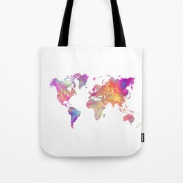 Map of the world #map #world Tote Bag