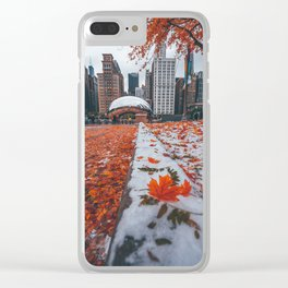 Fall and Winter Chicago Clear iPhone Case