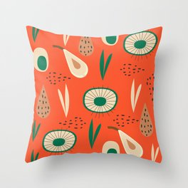 Abstract with pears Throw Pillow