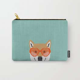 Shiba Inu Love - Gifts for pet owners dog person gifts shiba inu gifts customizable dog gifts cute Carry-All Pouch