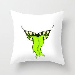 Tummy Monster Throw Pillow