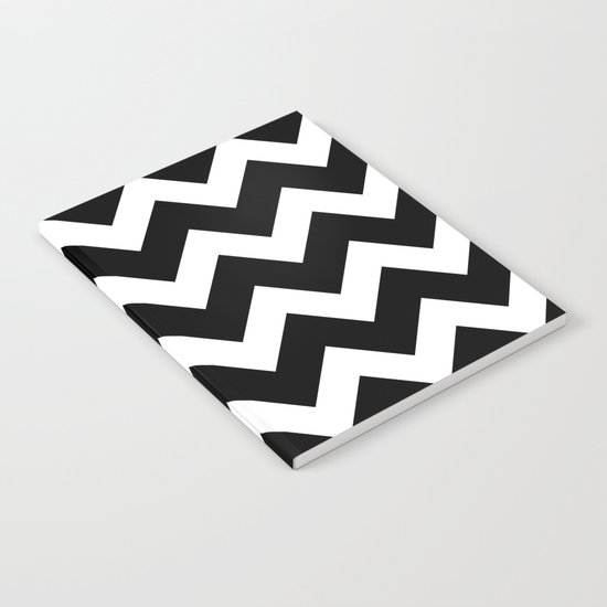 Chevron Black & White Notebook