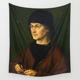 Albrecht Dürer the Elder with a Rosary by Albrecht Dürer Wall Tapestry