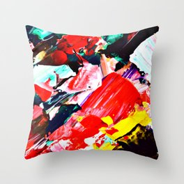 Red Intersections Throw Pillow