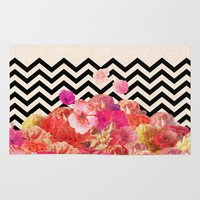 road Area & Throw Rugs featuring Chevron Flora II by Bianca Green
