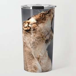 Growling Lioness Travel Mug