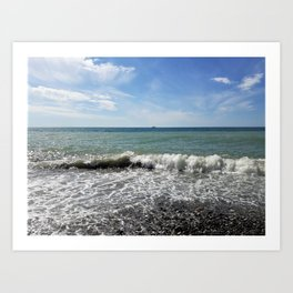 Postcard from the sea (2) Art Print