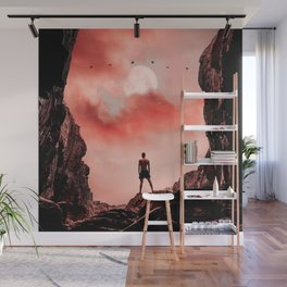 Red Evening Sky Wall Mural