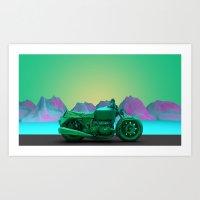 motorbike Art Prints featuring motorbike by zKrajnc