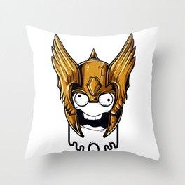 Whoa Viking Scary Throw Pillow