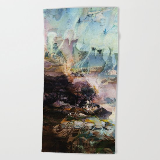 Morning Seashore Abstract Beach Towel