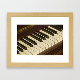 Old Piano Keyboard tilt view Framed Art Print