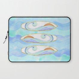 Surfboard retro watercolor Laptop Sleeve