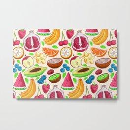 Mix Fruits Metal Print