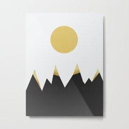 Geometric landscape with gold I Metal Print