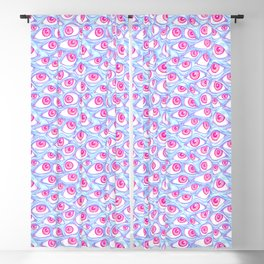 Wall of Eyes in Baby Blue Blackout Curtain