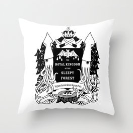 The Royal Kingdom of the Sleepy Forest Throw Pillow