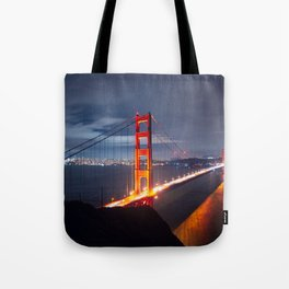 Golden Gate Bridge at Night | San Francisco, CA Tote Bag