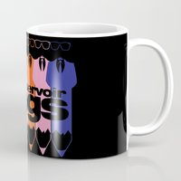 reservoir dogs Mugs featuring Colorful Dogs by Nightwatcher